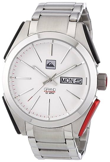 Quiksilver M137JF/ASIL - Reloj de caballero de cuarzo, correa de acero inoxidable color plata: Amazon.es: Relojes