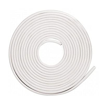 Car Door Edge Protector,16Ft(5M) Car Edge Trim Rubber Seal Protector with U Shape Car Protection Door Edge Guard Fit for Most Car (White): Automotive