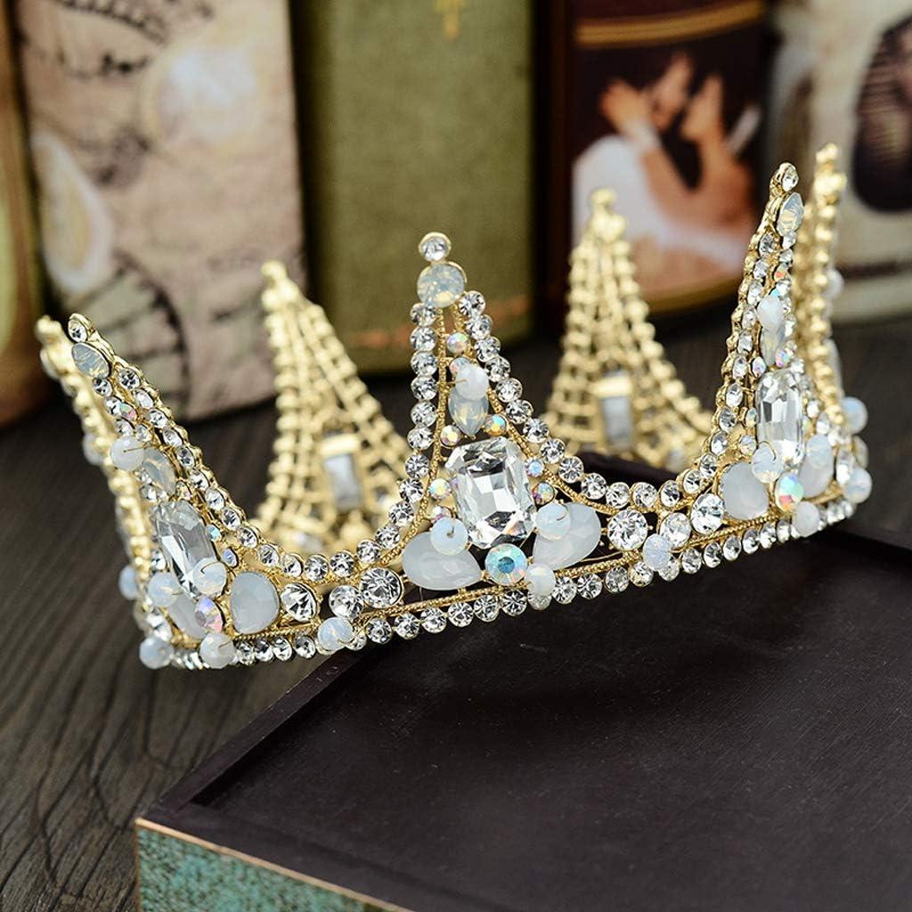 Corona De La Boda Real Nupcial Tiara Reina Novia Corona Concurso Rojo Azul Verde Diadema Princesa Pelo Joyas Adorno: Amazon.es: Hogar