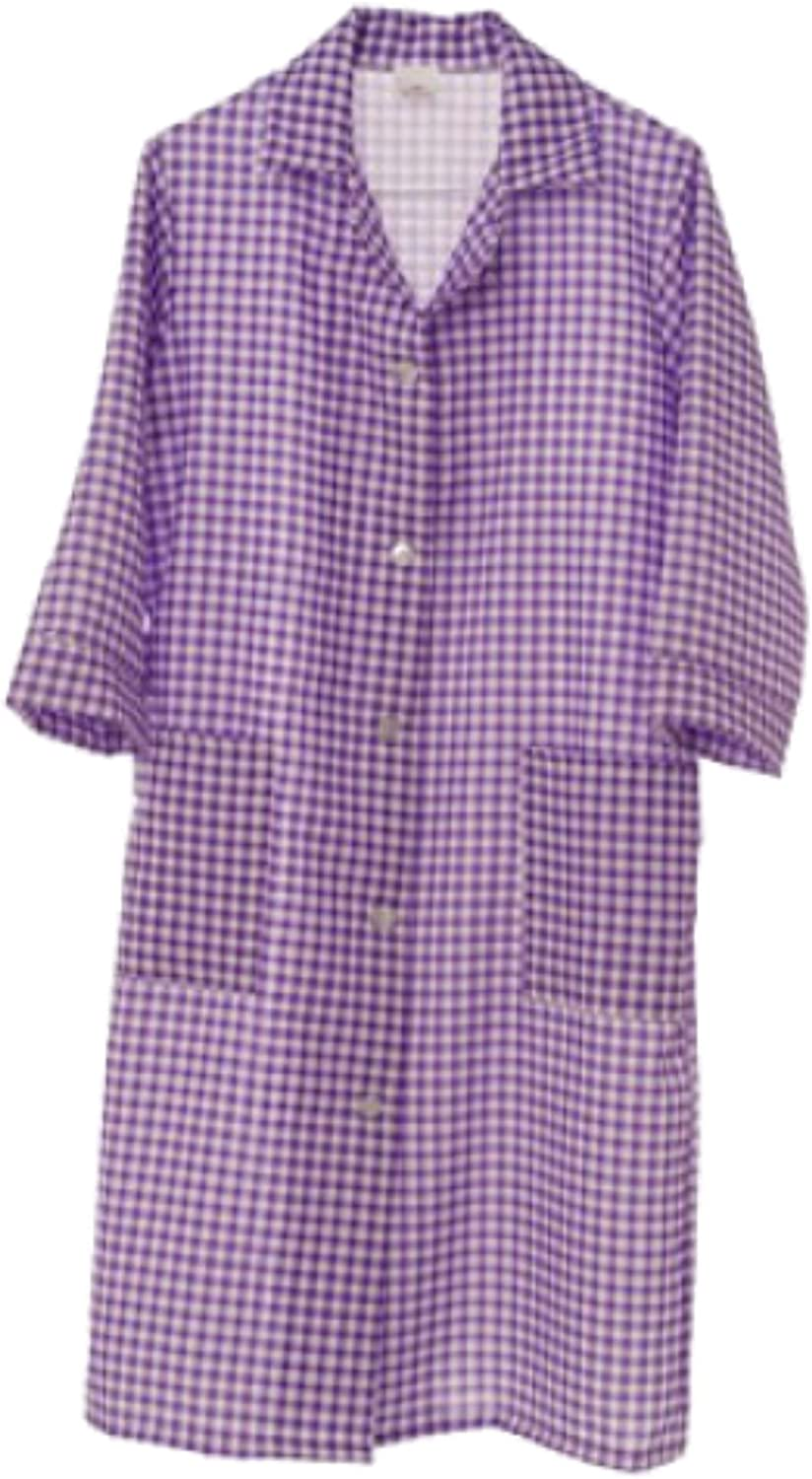 HDUK Top Quality Ladies /¾ Length Sleeve Check Home//Work Overall Tabard Apron Available in 6 Colours and in UK Sizes 8-10 up to 24-26