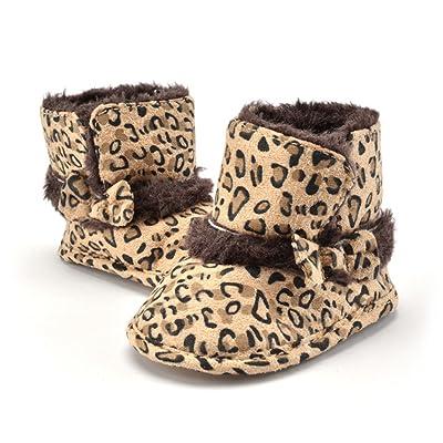 L-Peach Bébé Fille Garçon Bottes de Neige Enfant Filles Bottines Chaussures Premiers Pas Chaud Hiver Chaussons 0-18 Monate