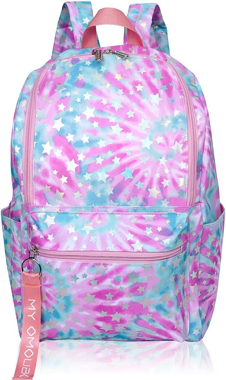 Backpack for Women, OMOUBOI 14 Inch Waterproof Laptop School Bag Travel - Pink