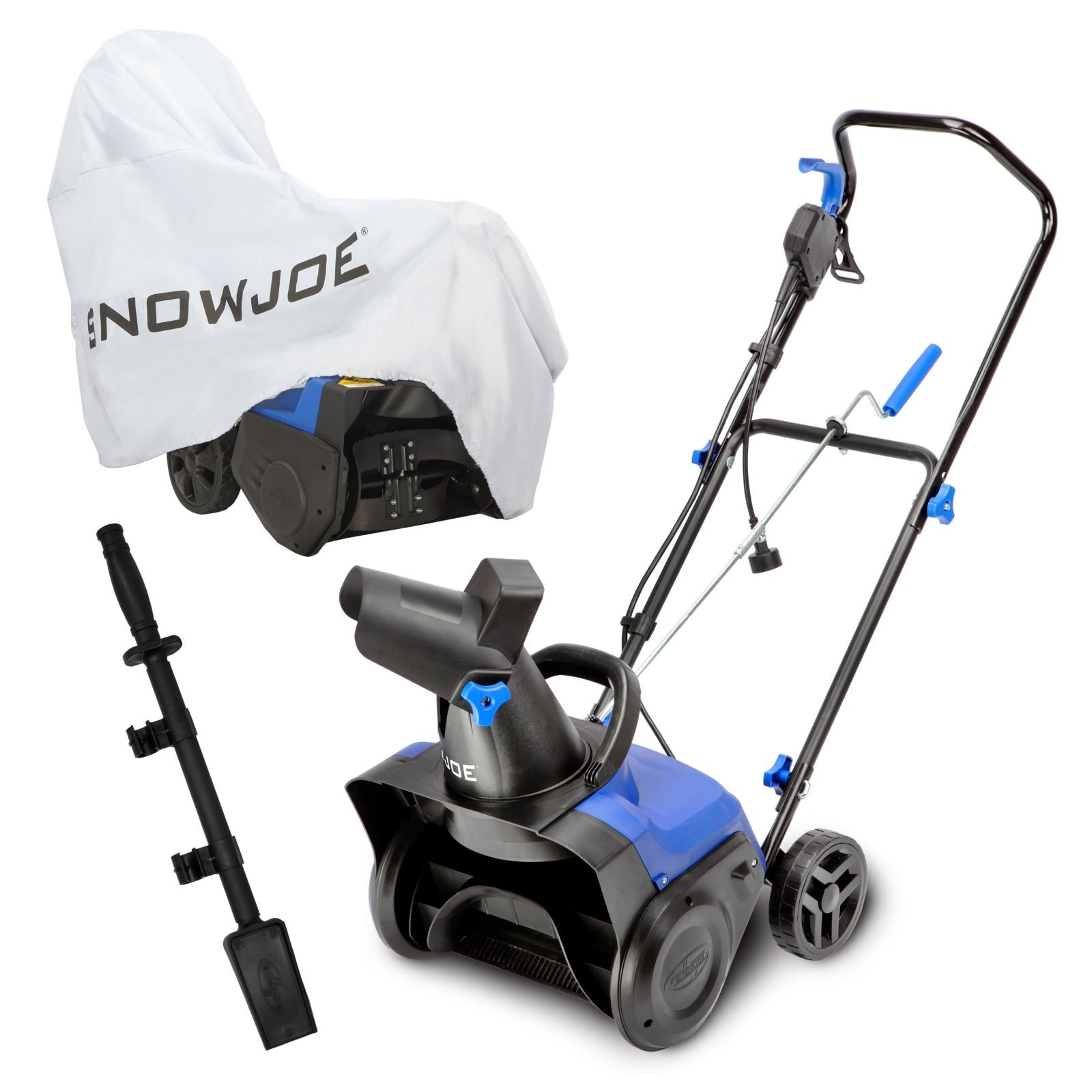 Snow Joe SJ615E-BDL Electric Single Stage Snow Blower Bundle 15-Inch · 11 Amp Motor Snow Blower · Cover · Clean-out Tool