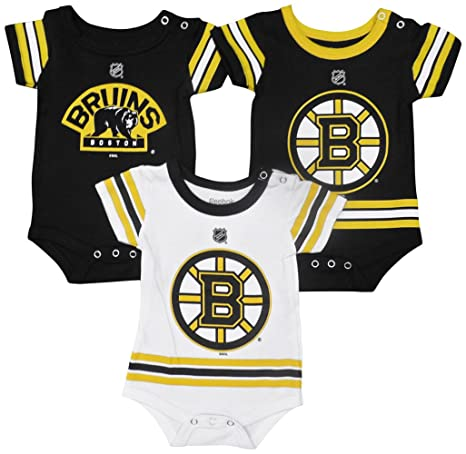 Outerstuff Boston Bruins Baby Infant Hockey Jersey Style 3 Piece Creeper Set  0-3 28add2dd4