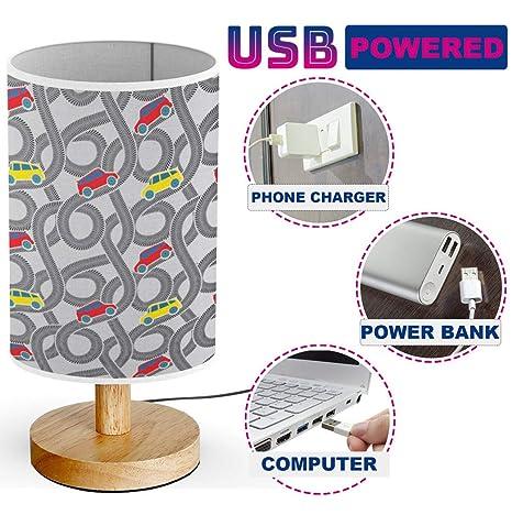 Amazon.com: ARTSYLAMP - USB Powered Wood Base Desk Table ...