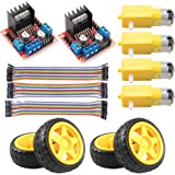 KeeYees L298N Motor Drive Controller Board Stepper Motor Control Module Dual H-Bridge with DC Motor and Smart Car Wheel…