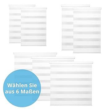 ca376d88e25e56 Panorama24 Duo-Rollo Klemmfix, 100 cm x 175 cm (B x L) in Weiß ...