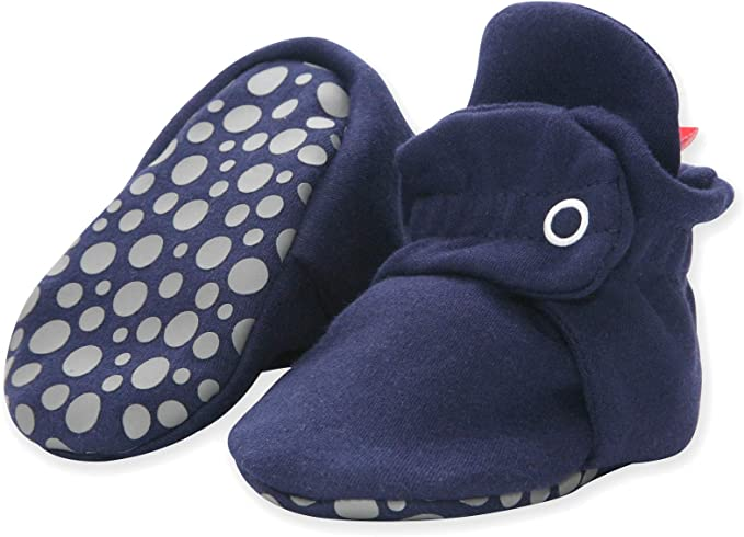 Amazon.com: Zutano baby-boys Zutano Cotton Baby Booties With Gripper Soles, Soft Sole Stay-on Baby Shoes: Clothing