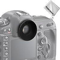 First2savvv DSLR SLR-Kamera Gummi Augenmuschel-Sucher für Nikon D610 D600 D300S D7200 D7100 D7000 D90 D300 D200 D80 D70 D70S D60 DSLR Camera DK-21 DK-23 Camera + Reinigungstuch - QJQ-OX-N-01