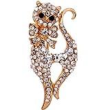 Yazilind cadeau de bijoux en plaque or rose Glaring cristal sexy Fox broches et epingles pour les et les filles