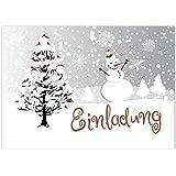 Einladung Weihnachtsfeier Kunden.15 X Einladungskarten Mit Umschlag Zur Weihnachtsfeier Motiv