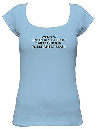 Was Ist Das Blaues Licht Rambo Fun Spruch Boat Neck Damen T Shirt