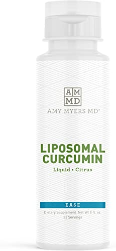 Liquid Liposomal Curcumin from Dr. Amy Myers – Supports a Healthy Inflammation Response Citrus Flavor Dietary Supplement 8 fl. Oz, 22 Servings