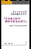 Pythonの文法は覚えたけど「じゃあこれで何ができるんだ?」と思っている人のための本
