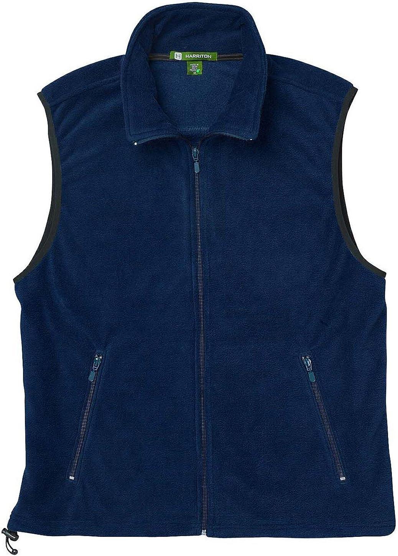 Harriton Mens Fleece Vest