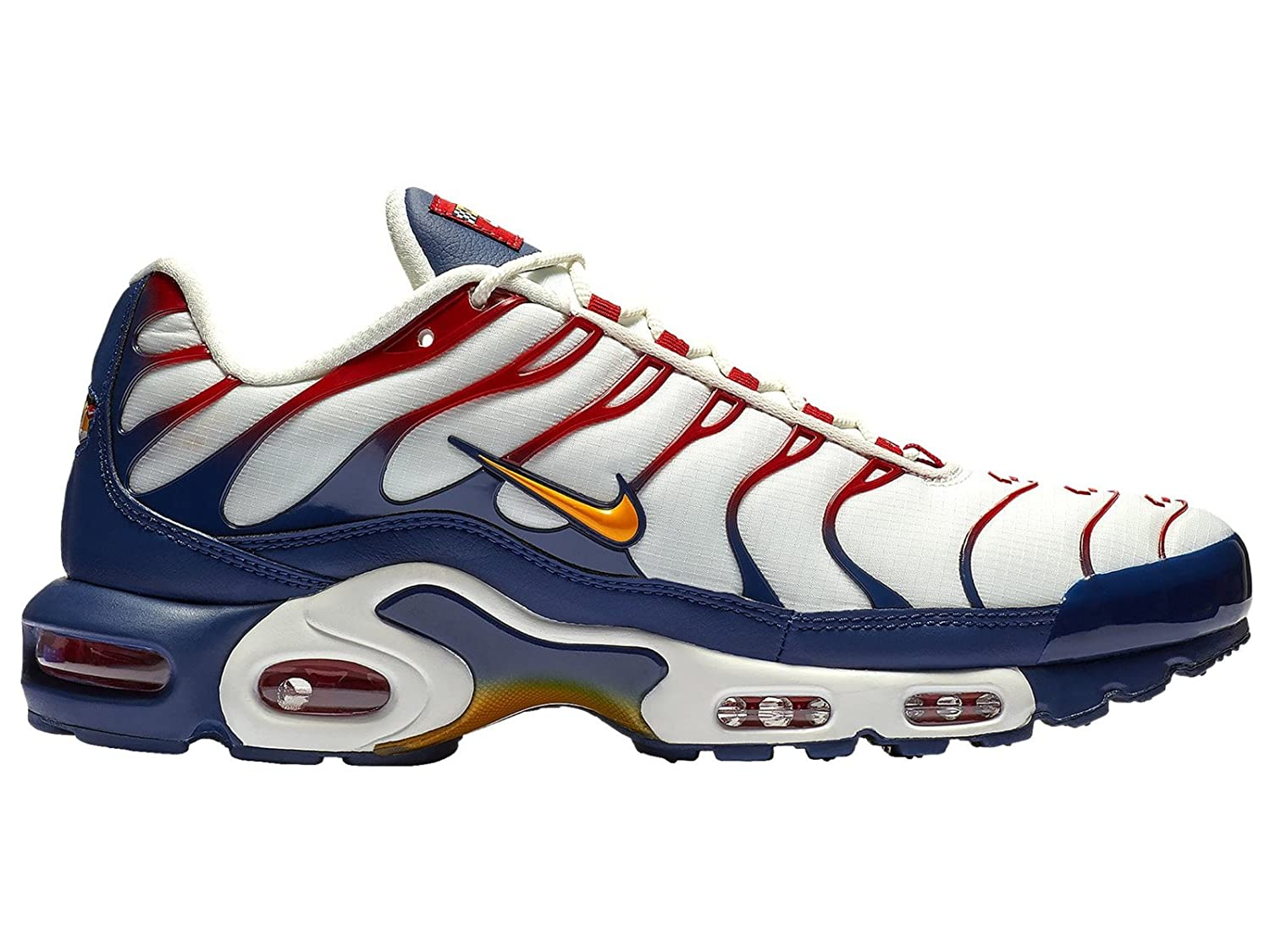 low priced 03404 ccd39 Amazon.com   Nike Men s Air Max Plus Sail University Gold Midnight Navy    Nautical Pack Nylon Casual Shoes 8 (D) M US   Fashion Sneakers