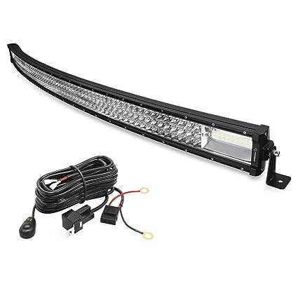 LED Light Bar, YITAMOTOR 648W 52 inch Curved Light Bar Spot Tri-Row on