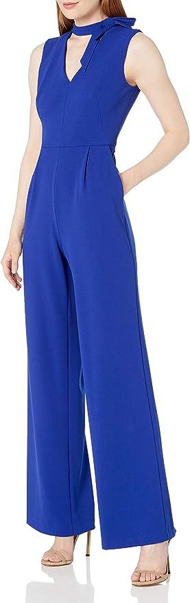 Calvin Klein 卡尔文克莱因 CK 女式无袖V领雪纺连身衣 4码2折$27.77 海淘转运到手约¥226