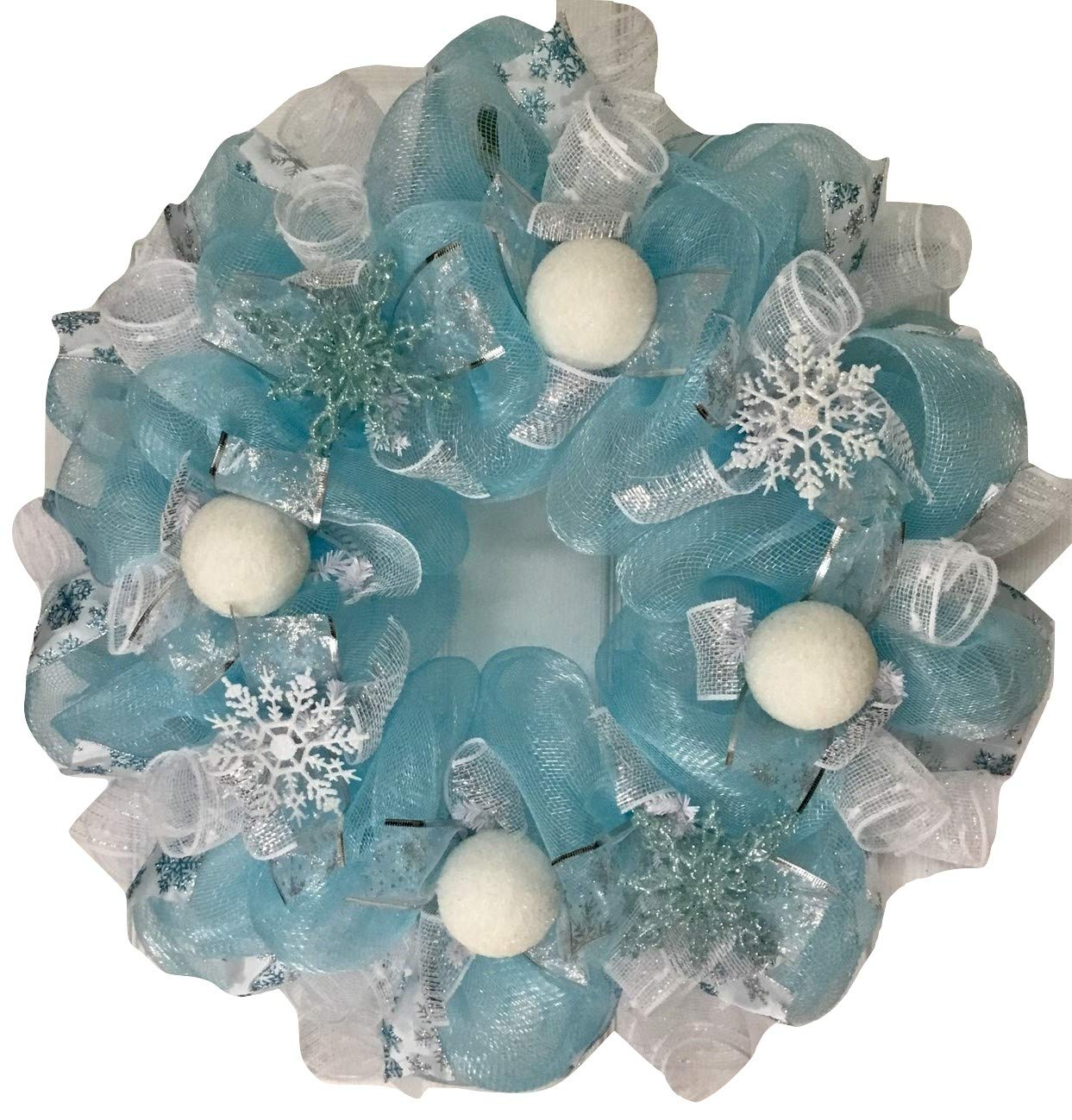 Frozen-Winter-Deco-Mesh-Wreath-With-Snowballs