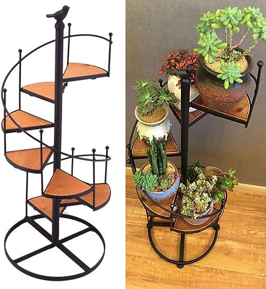 5 Tiers Plant Flower Stand Holder Self Rack Display Home Garden Decor Coffee