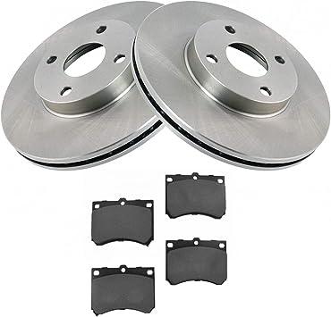 97-03 Escort 95-98 Protege Front Rotors w//Metallic Pad OE Brakes