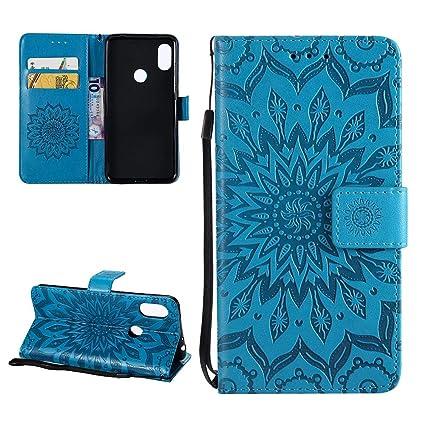 Carcasa Xiaomi Redmi Note 6 Pro Libro de Cuero Mandala Flor ...