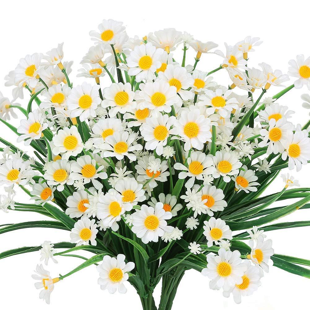 de Mariage Amknn Lot de 4 Fleurs artificielles en Forme de Marguerite pour d/écoration de Maison de Bureau