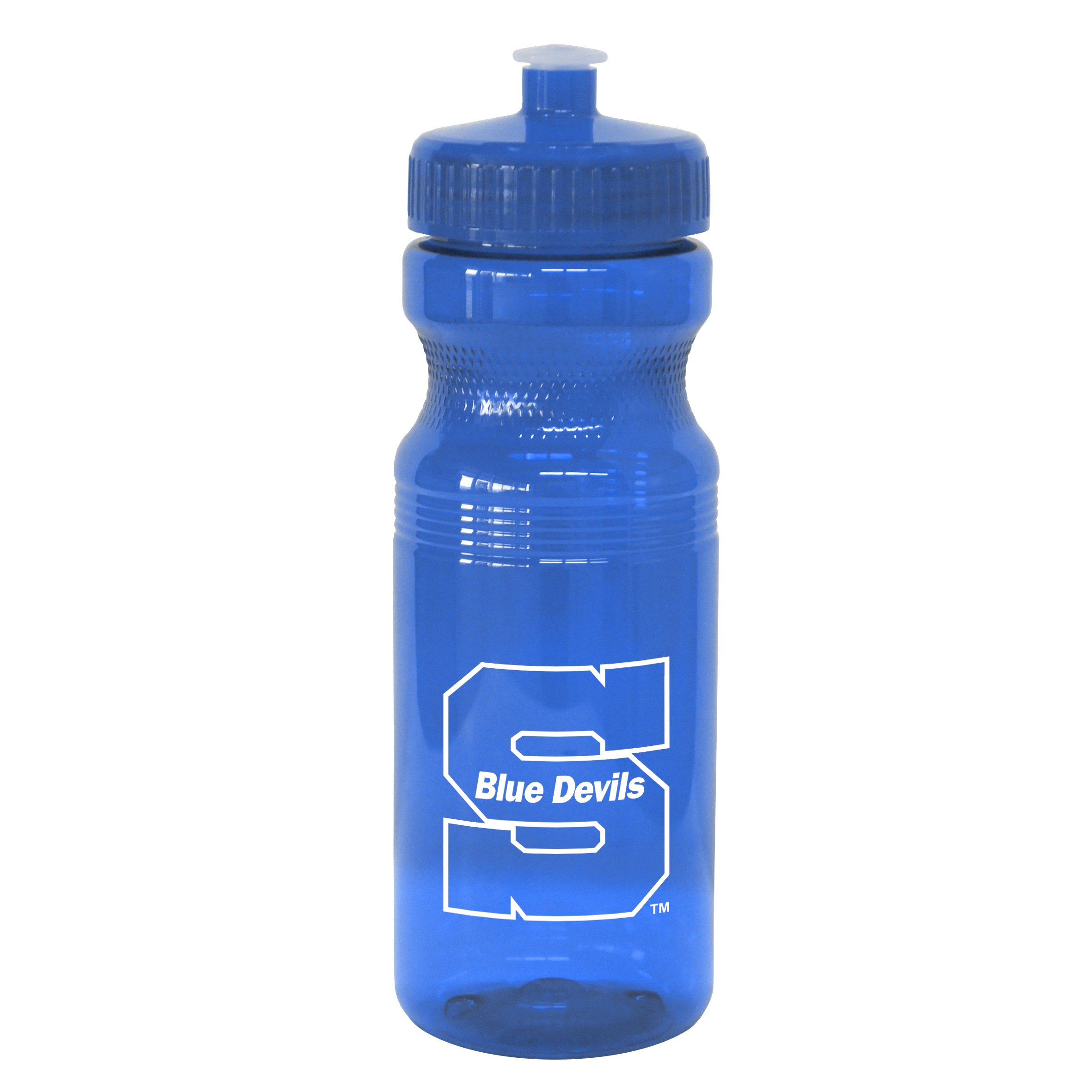 NCAA UW - Stout Blue Devils Squeeze Water Bottle, 24-ounce
