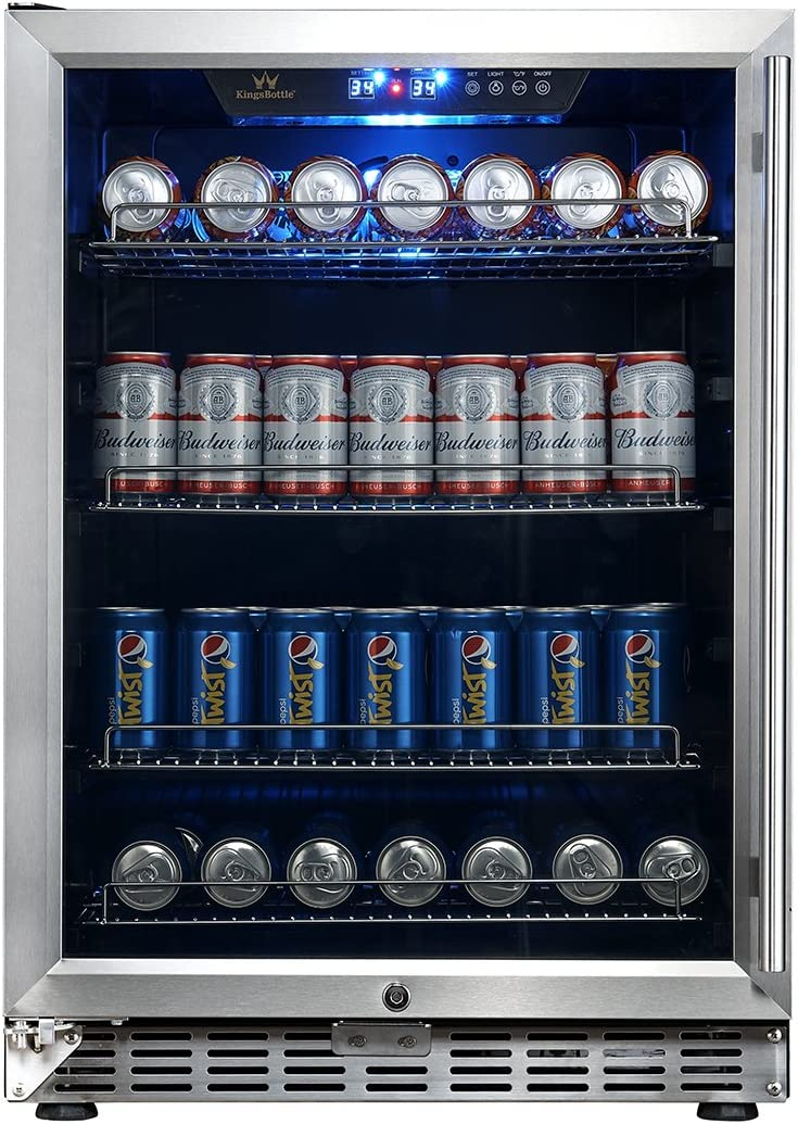 Amazon Com 24 Inch Under Counter Built In Beverage Cooler Refrigerator Kbusf54b Appliances