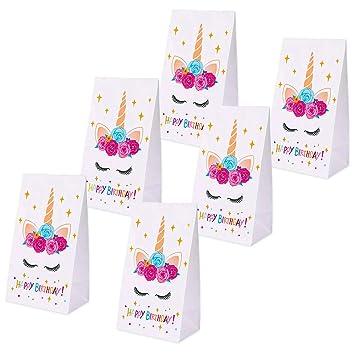 Amazon.com: Erosom Bolsas de regalos de unicornio, bolsas de ...