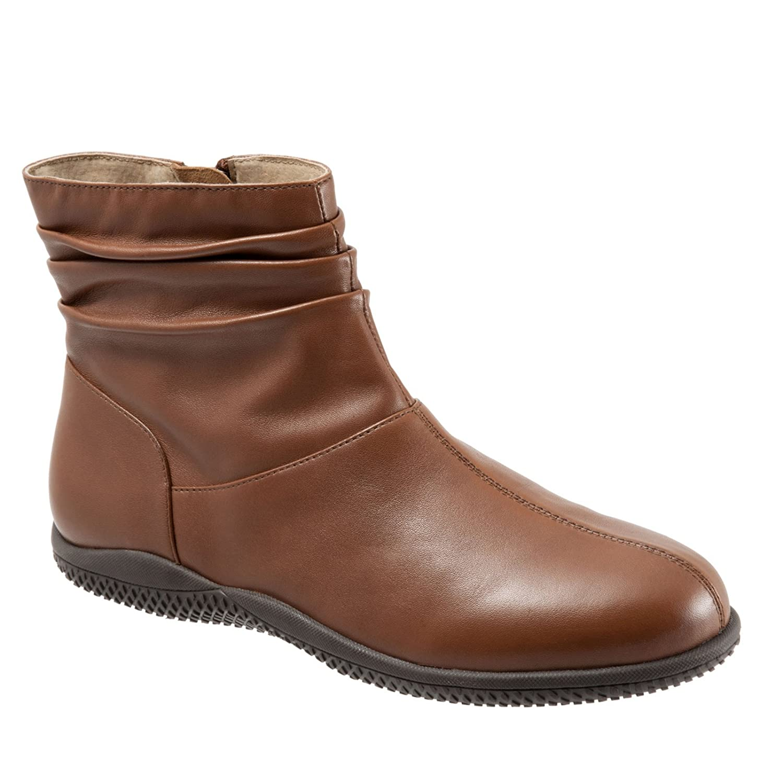 SoftWalk Women's Hanover Boot B00HQQPIW6 7.5 N US|Cognac Soft Nappa Leather