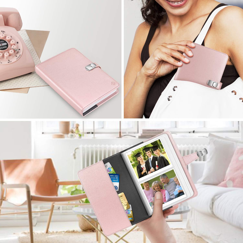 Fintie Wallet Photo Album for Fujifilm Instax Wide 300 Composition Book Compatible with Polaroid POP//Originals 600 Camera 3.5x4.5 Inch Film Polaroid OneStep 2-64 Pockets Snap Fastener Album