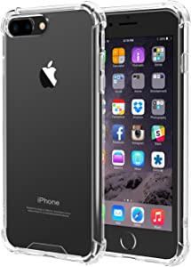 iPhone 8 Plus, iPhone 7 Plus Case, iXCC iPhone 8 Plus, iPhone 7 Plus Crystal Clear Cover Case [Shock Absorption] with Soft TPU Bumper for iPhone 8 Plus, iPhone7 Plus 5.5 Inch (2016) - Clear