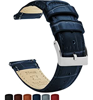 59f16d20127 Barton Alligator Grain - Quick Release Leather Watch Bands - Choice of  Colors - 18mm