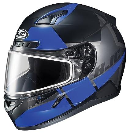 c9bdec9a Amazon.com: HJC Helmets Unisex-Adult Full-Face-Helmet-Style CL-17 Boost  Snow Helmet with Dual Lens Shield (Black/Blue, Large), 1 Pack: Automotive