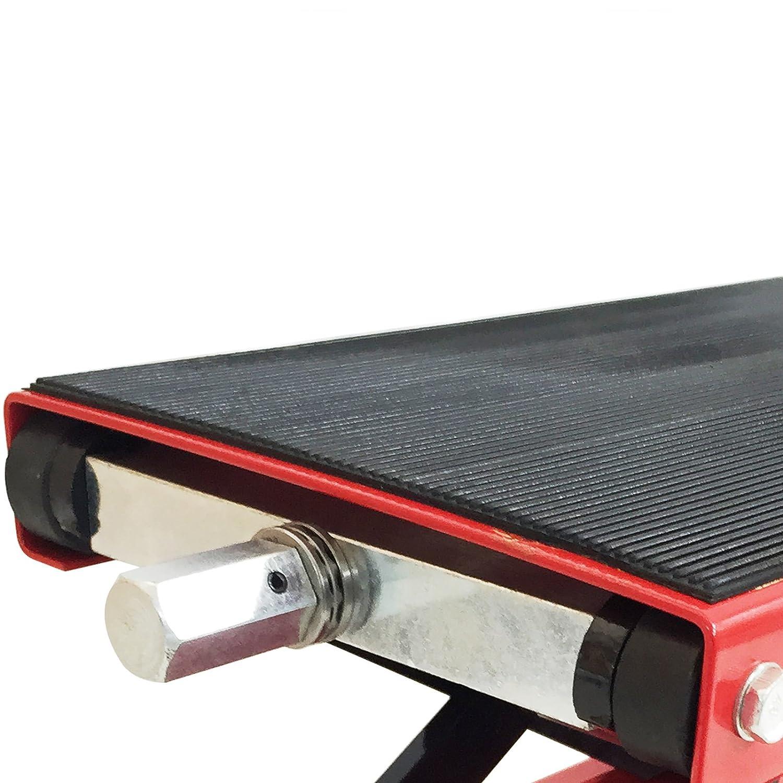 Trad4U 1100lbs Motorcycle Scissor Lift Jack Hoist Stand ATVs Wide Desk
