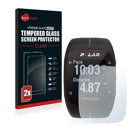 7a15e21f7b0 Savvies Glass Screen Protector for Polar M400  Amazon.co.uk  Electronics