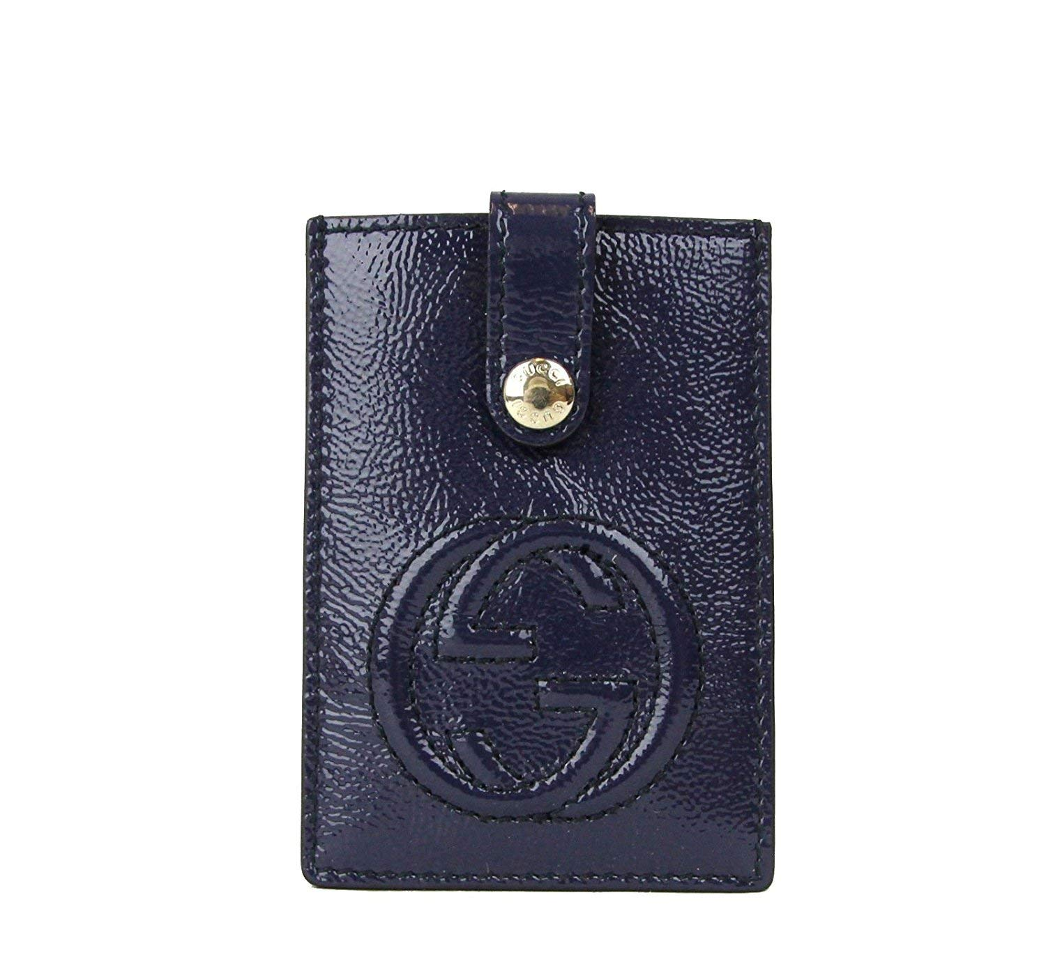 Gucci Women's Soho Blue Patent Leather Card Case Pouch 338331 4233 by Gucci (Image #1)