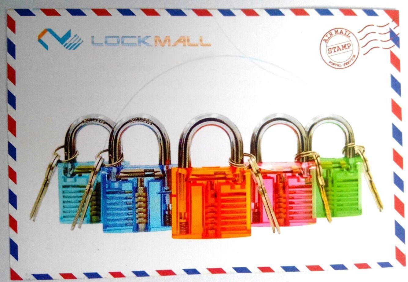 Bullkeys Master Full Set 7 Pcs Transparent Locks Family for Players Practice