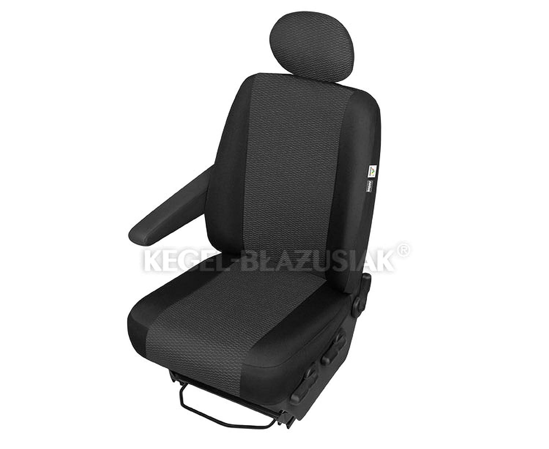 ZentimeX Z967638 Sitzbezü ge Fahrersitz / Einzelsitz Armlehne rechts Stoff schwarz Airbag-Kompatibel renault