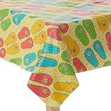 Indoor / Outdoor Vinyl Tablecloth Summer Flip Flops Design (60 x 84 Oblong)