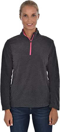 Swiss Alps Womens Quarter Zip Performance Polar Fleece Pullover Sweatshirt