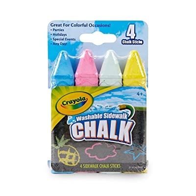 Crayola 51-4104 Sidewalk Chalk 4/Pkg, Multi: Arts, Crafts & Sewing
