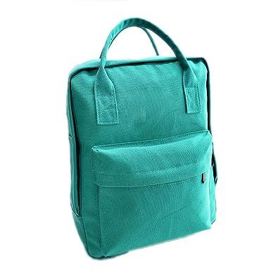 Keshia Dwete NEW Preppy Designer Style Solid Colors Zipper Canvas Backpacks School Bags Teens Girls Boys