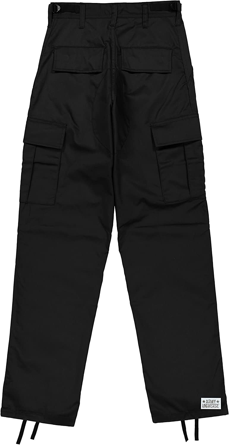 Amazon.com  Mens Black Poly Cotton Military Army Fatigues Work Utility  Uniform Cargo BDU Pants with Pin  Clothing 80e608c7a2