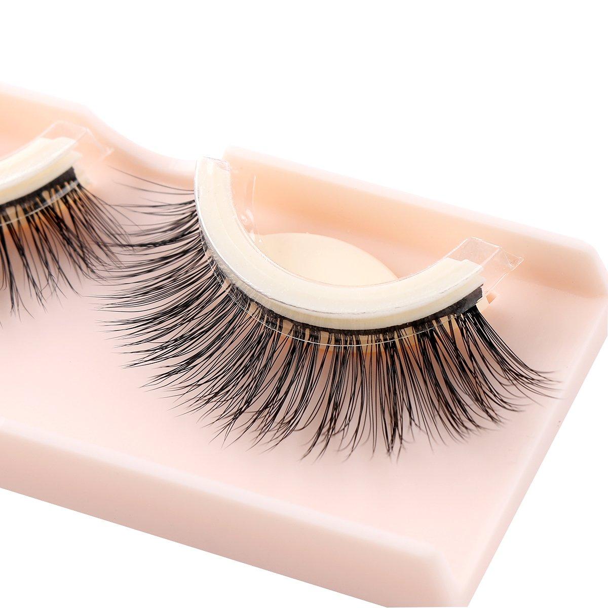 1Pair 3D Mink False Eyelashes Self Adhesive Makeup Fake Lashes Extension Beauty (c) Limado