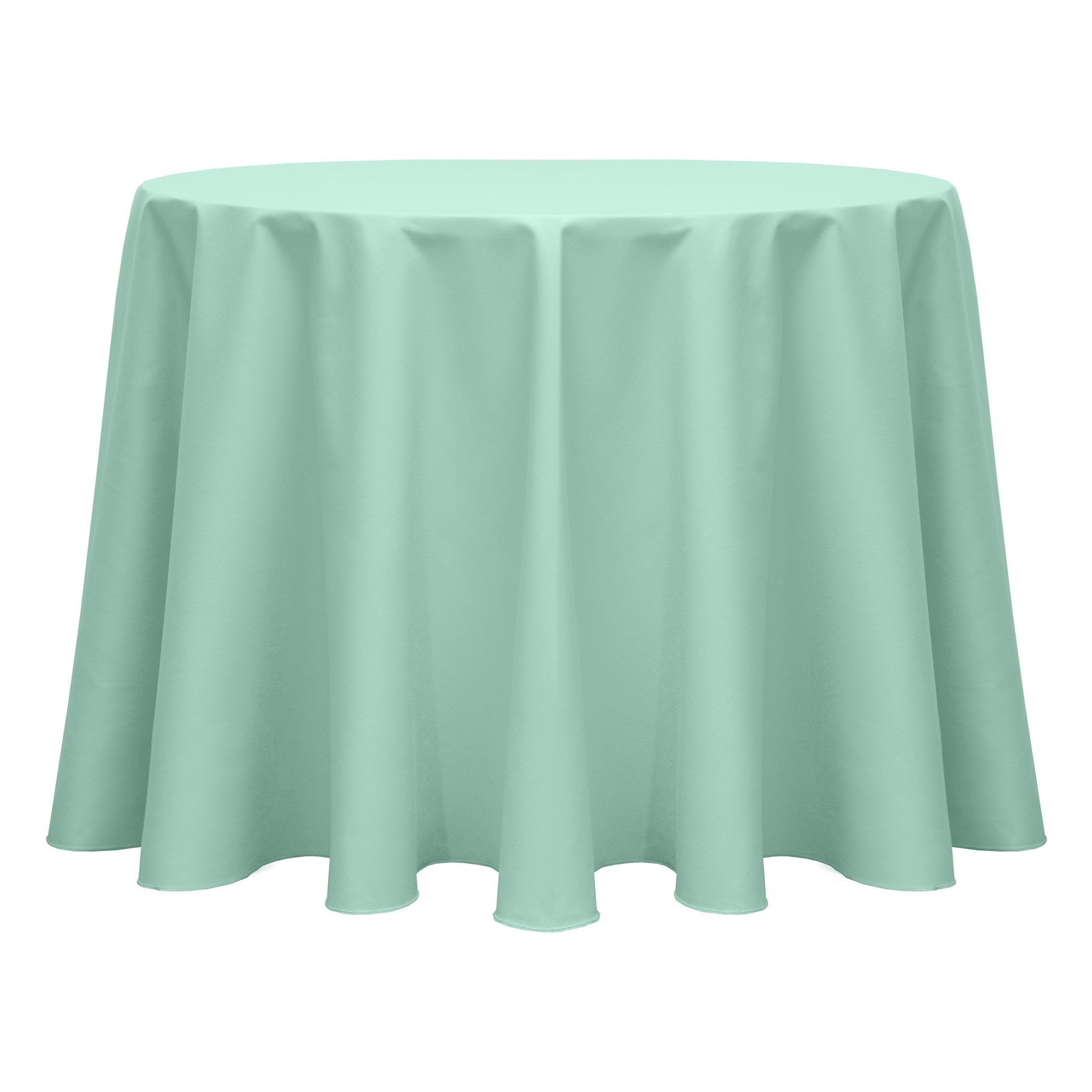 Ultimate Textile (40 Pack) Poly-cotton Twill 70-Inch Round Tablecloth - for Restaurant and Catering, Hotel or Home Dining use, Seamist Light Green