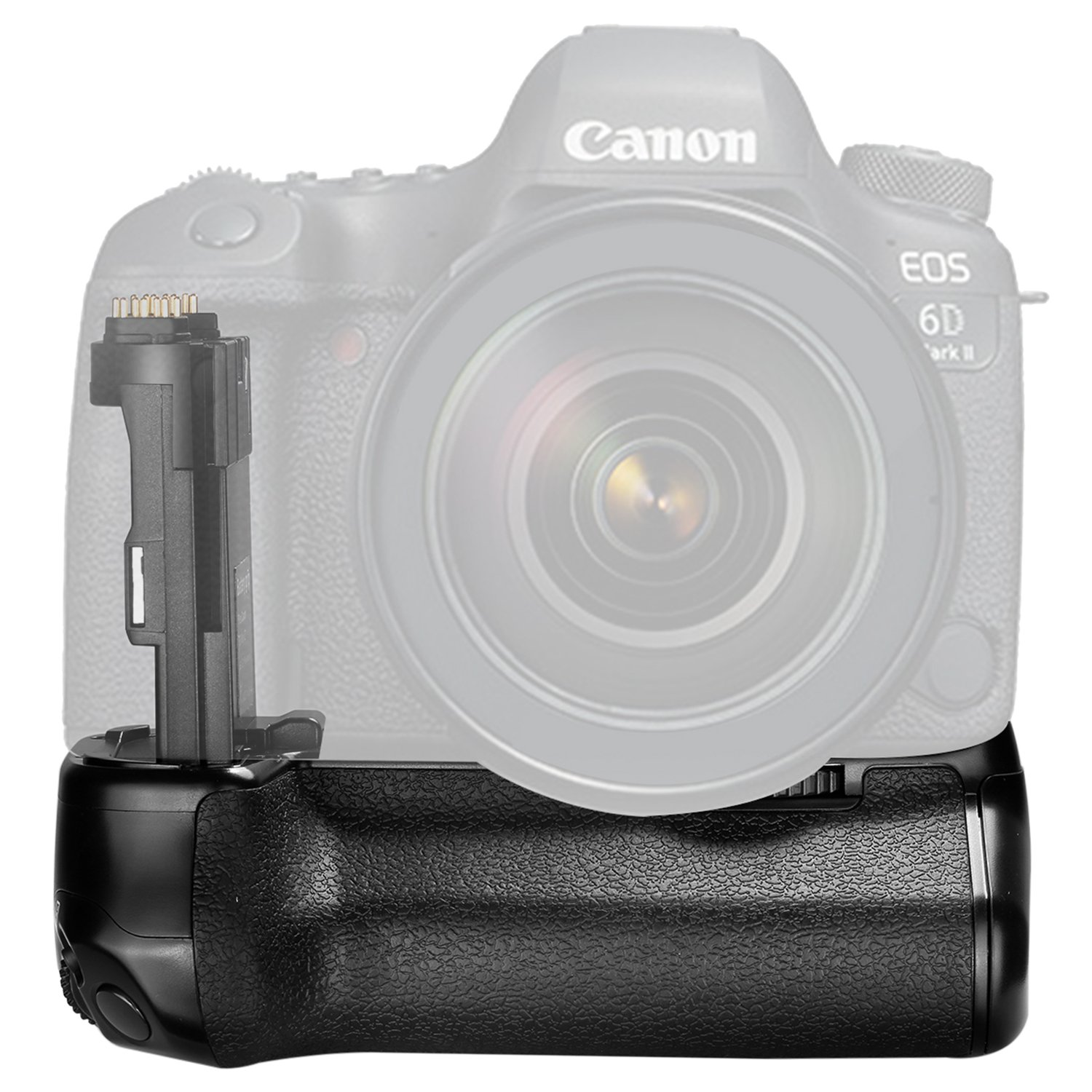 Neewer Pro Camera Battery Grip Replacement for Canon BG-E21 for Canon 6D Mark II DSLR Camera, Work with One or Two LP-E6 Rechargeable Li-ion Battery (Battery NOT Included) 10092016
