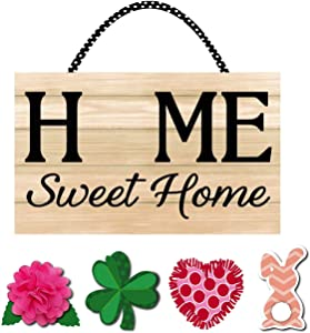 Evergreen Flag Beautiful Spring Interchangeable Home Sweet Home Durable Door Decor - 22 x 12 Inches Fade and Weather Resistant Outdoor Decoration for Homes, Yards and Gardens
