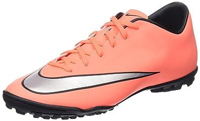 eb4527d6e Nike Men s Mercurial Victory V Turf Soccer Cleat Bright Mango Metallic  Silver Size 6.5 M